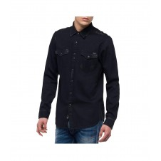 CAMISA DENIM DESGASTADA REPLAY - premiata steven
