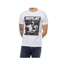 CAMISETA REPLAY CON ESTAMPADO BIKER