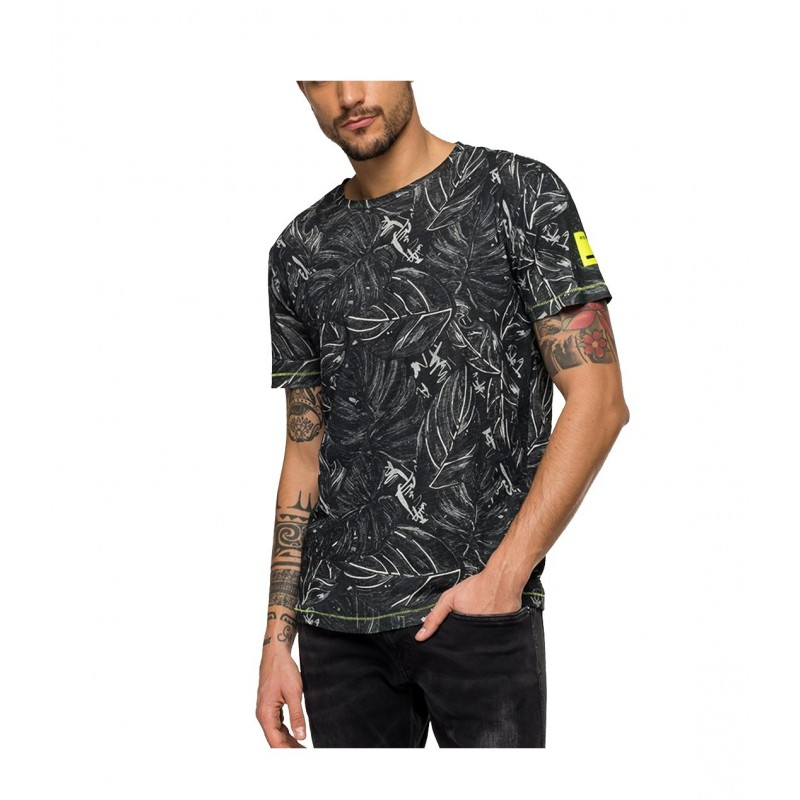 CAMISETA CON ESTAMPADO HOJAS REPLAY  - cp company