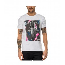 CAMISETA REPLAY ESTAMPADO MOTO