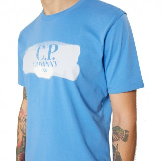 CAMISETA CP COMPANY LOGO BRUSH