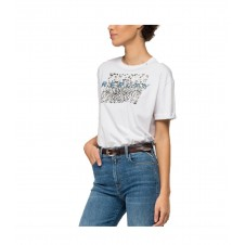 CAMISETA REPLAY MUJER CON ESTAMPADO ANIMAL PRINT