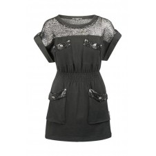 VESTIDO RED SEQUINS NEGRO HIGHLY PREPPY - blauer barcelona
