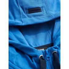 SUDADERA CON CREMALLERA Y CAPUCHA BLAUER USA - plumiferos blauer